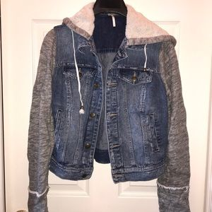 Free People jean/sweatshirt jacket